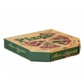 Коробка 250*250*40 см для пиццы бурая с печ. 3 цвета, 1/100